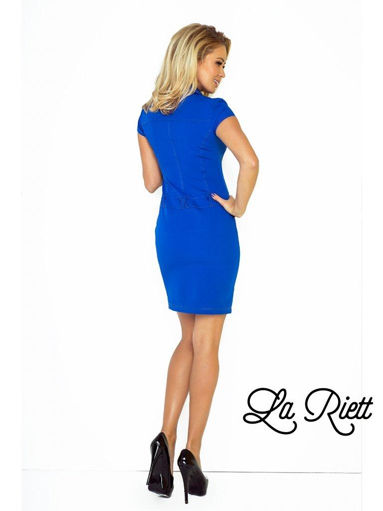 0cbfffe25e0f Modré šaty s gombíkmi a opaskom 142-3 - www.sonya.sk