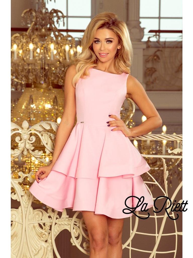 f0f0ec748 Elegantné šaty pastelovo ružová 169-5 - www.sonya.sk