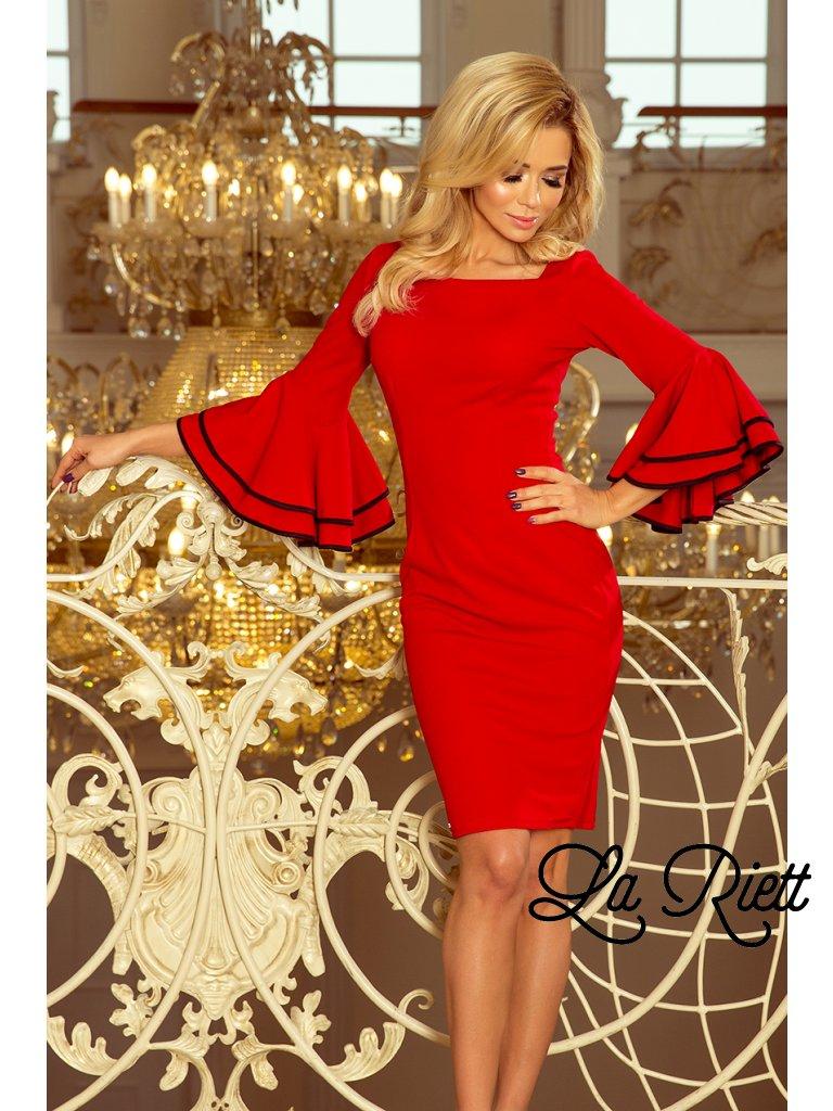 9742e69668 Šaty so španielskymi rukávmi červene 188-1 - www.sonya.sk