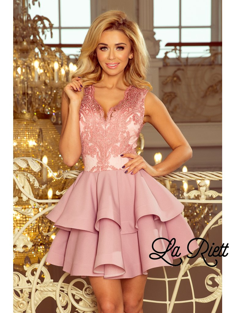Exkluzívne pastelové šaty s A-čkovou suknou 200-5 - www.sonya.sk 7180da25bd3