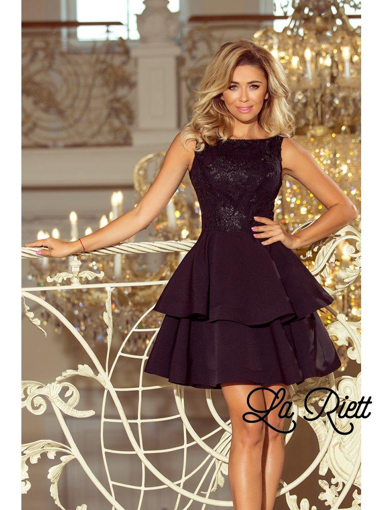 2cf3183db7e1b Dámske spoločenské šaty čierne 206-2 - www.sonya.sk