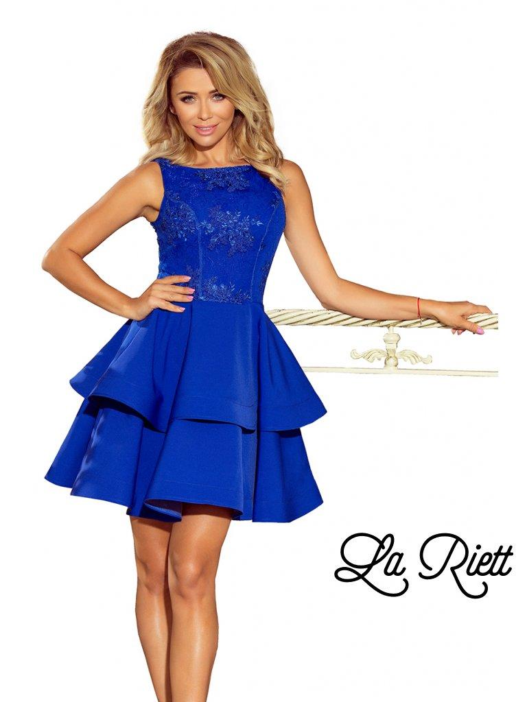 aa7f31b7d49 Dámske spoločenské šaty modré 206-1 - www.sonya.sk