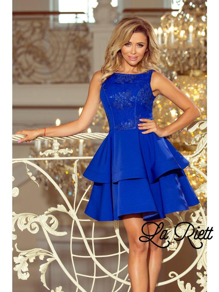 Dámske spoločenské šaty modré 206-1 - www.sonya.sk 43d0ff465b8
