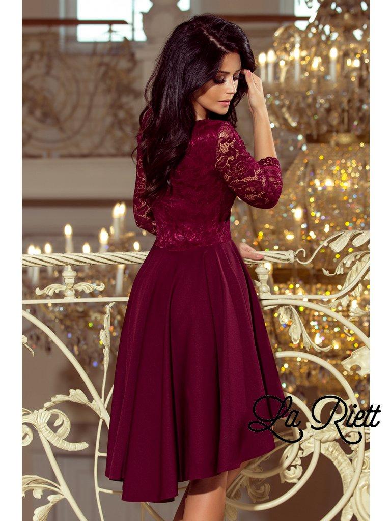 1daa458f4a Šaty s krajkovými rukávmi 210-1 - www.sonya.sk