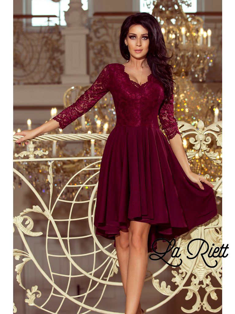 4647d6c71804 Šaty s krajkovými rukávmi 210-1 - www.sonya.sk