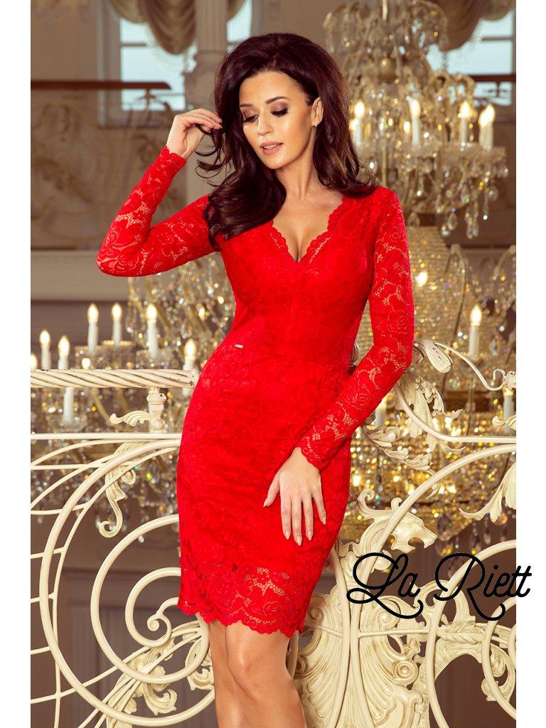 e5b467cf0e5d Červené čipkované šaty 170-6 - www.sonya.sk