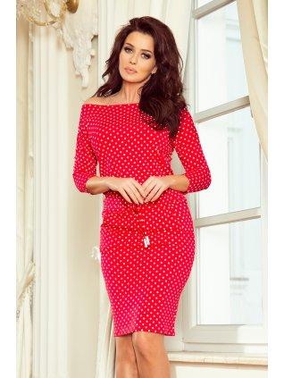 b47e8a4c4093 Športové šaty červene dots 13-98
