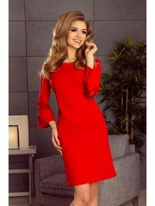 ac111315fa21 Šaty s krajkou na rukávoch- červené 190-3