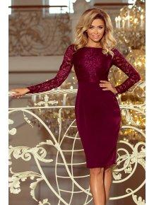 Dámske elegantné šaty s čipkou vínové 216-3 b3774863926
