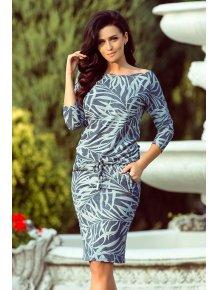 Dámske šaty modré listy 13-87 015d94ee7a6
