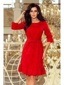 2f4fe876f86e Dámske šaty s volánikmi červené 193-9